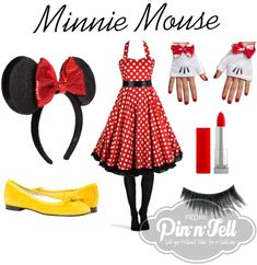 Raid your closet and make your own Halloween Costume: DIY Minnie Mouse