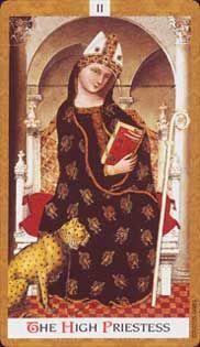 High Priestess - Card from Golden Tarot