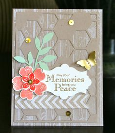 Stampin' Up! Sympathy Card by Krystal's Cards and More: Hello There Hexagon Hive