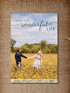 Christmas Card, Photo Holiday Card, Wonderful Life. $15.00, via Etsy.