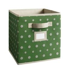 Martha Stewart Living Fabric Drawer, $7.27. See what I mean about the bin inserts being cuter? There are also solids in loads of colors (beige, black, green, pink, navy, aqua, etc etc etc) and a cranberry & beige striped number.