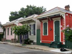 Little houses in New Orleans.