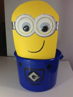 Despicable Me Birthday Party Minion Treat Goody Bucket by EpicEvent, $20.00