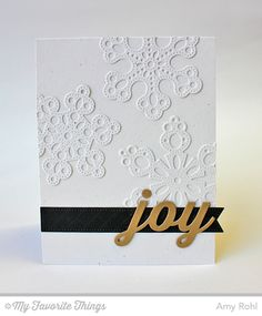 Peace Love Joy Die-namics, Pierced Fishtail Flags STAX Die-namics, Pierced Snowflakes Die-namics - Amy Rohl #mftstamps