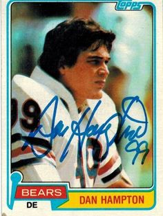 Dan Hampton Autographed/Hand Signed Bears 1981 Topps Rookie Card #316 by Hall of Fame Memorabilia. $52.95