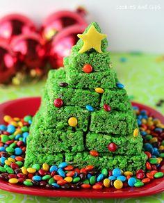 Krispie treat Christmas Tree