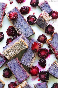 Blackberry Magic Custard Cake by bakersroyale #Cake #Magic #Custard $Blackberry #Blueberry