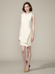 Silk Wool Crepe Layered Dress by J.Mendel on Gilt.com