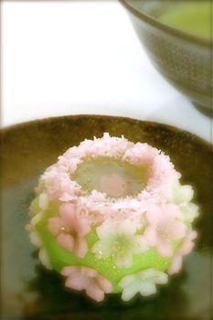 Sakura cake, spring sweets