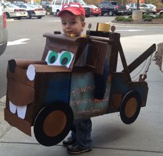 great Homemade Tow Mater costume by my very talented friend.