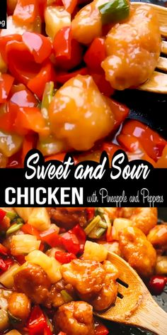 Super Easy Chinese Chicken Recipe - Sweet and Sour Chicken with Pineapple and Peppers.