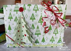 reative Gift Wrapping Day #3 – Clustered Butterflies and 3-D Tree