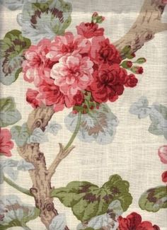 Jovi Red - www.BeautifulFabric.com - upholstery/drapery fabric - decorator/designer fabric  floral with red, blue, green