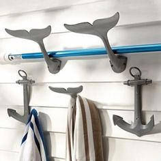 Hooks for bath or mud room