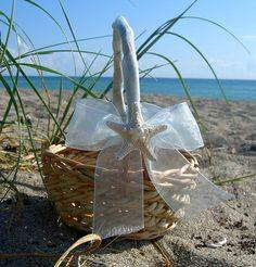 Beach Wedding Starfish Flower Girl by sandnsurfcreations on Etsy, $25.00