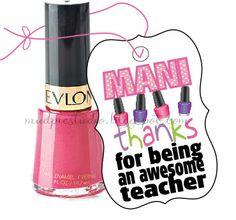 Manicure Gift Tag - Teacher Appreciation