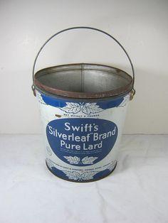Vintage Lard Bucket Swifts Silverleaf Pail Storage Solutions!  by LavenderGardenCottag
