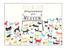 all dogs go to heaven card from Pink Olive - $5.75