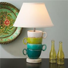 Coffee Break Table Lamp- cute in a dining nook or kitchen