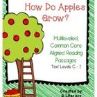 How Do Apples Grow?  is a multileveled passages set. Included in this set are 4 passages on the same topic at four different text levels, C- I. Thi...