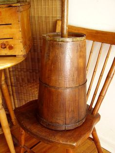 Wooden Butter Churn