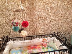 coral, brys girl, diy mobil, babi girli, nurseri, girli room