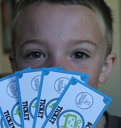 Screen Tickets!  A great way to monitor you child's screen time.  Free Printable