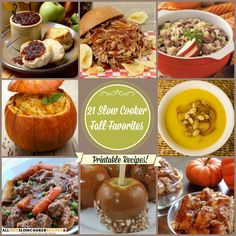 Plan tasty fall slow cooker recipes to enjoy throughout the season with our latest Slow Cooker Fall Favorites 21 Fall Slow Cooker Recipes free eCookbook. This free eCookbook is packed with the season's best slow cooker recipes, including fall slow cooker stews, fall slow cooker soup recipes, fall main dish ideas, fall side dishes, festive fall drink recipes, fall dessert recipes, and more!