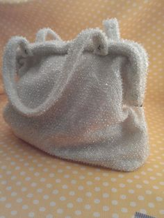 Corde Bead handbag by Lumared Etsy, $25.00 #beadedbag #vintage cord bead, bead handbag, beadedbag vintag, 2500 beadedbag