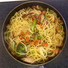 Chicken Lo Mein with Broccoli Allrecipes.com