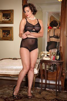 Secrets In Lace Vintage Dotted Sheer Panty