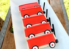Wagon Cookies from Car cookie cutter