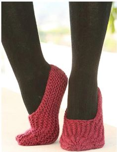 Drops Slippers in Garter Stitch - 30 Super Easy Knitting and Crochet Patterns for Beginners