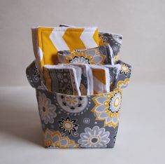 Yellow and gray baby gift set