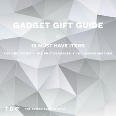 Gadget Gift Guide for The Techie + The Photographer + The iPhonographer | The Design Confidential