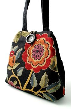 black tote bag converts to hobo floral handbag diaper by daphnenen