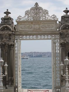Istanbul, view from the Palace of Dolmabahçe.