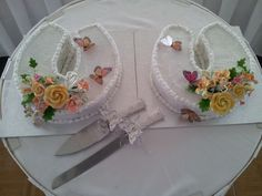 Wedding was at a racecourse so horseshoe wedding cakes fitted the theme along with butterflies which were released during the ceremony butterfli, cake idea, horsesho, wedding cakes, cake fit