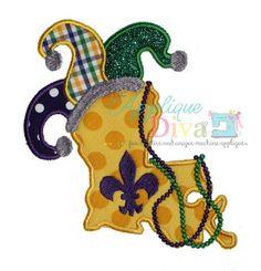 Mardi Gras Louisiana Digital Embroidery Design by theappliquediva, $2.99