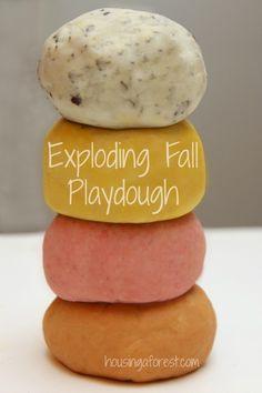 Erupting Fall Playdough