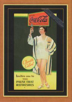 Claudette Colbert, Coca-Cola card