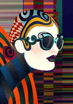 psychedelic fun time #prada #art