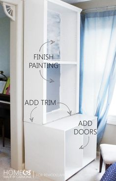 Bookcase Hutch DIY -