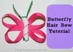Crafty Tuesday: Butterfly Hair Clips