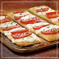 caprese pizza, cook, capres pizza, pamper chef, appet, food, pizzas, recip, pizza dough