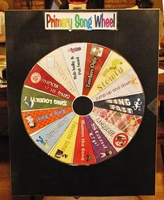 Real Scrappy - LDS Primary Chorister - Singing Wheel - Freebie Downloads Included!  I am so making this!!!  Includes dif ways to sing songs as well as song choices.  Two wheels in one!