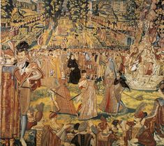 "Valois Tapestry -Tapestry depicting a ball held by Catherine de' Medici at the Tuileries Palace, Paris, in 1573 in honour of Polish envoys visiting to present the throne of Poland to her son Henry, Duke of Anjou, the future Henry III of France. The tapestry is one of a series, known as the ""Valois Tapestries"", celebrating the court festivals or ""magnificences"" of Catherine de' Medici."