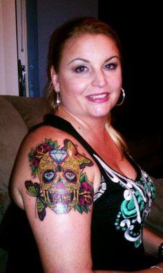 My new sugar skull tattoo!