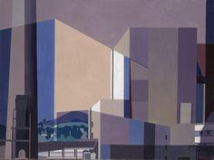 """California Industrial,"" Charles Sheeler, 1957, oil on canvas, 25 x 33"",  Yale University Art Gallery."