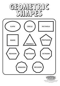 ... frankdena on Pinterest | Shape Poems, Worksheets and Shape Activities
